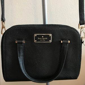 Kate Spade Black Leather Small Satchel